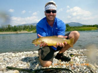 "Catching a 21"" Cutthroat Trout on the Snake River"